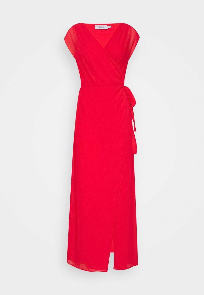NA-KD - PAMELA REIF X NA-KD OVERLAPPED DRESS - Długa sukienka - red