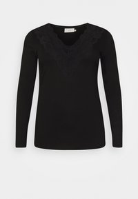 Kaffe Curve - LIMA - Long sleeved top - black deep - 4