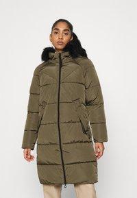 ONLY - ONLMONICA LONG PUFFER COAT  - Winter coat - beech - 0