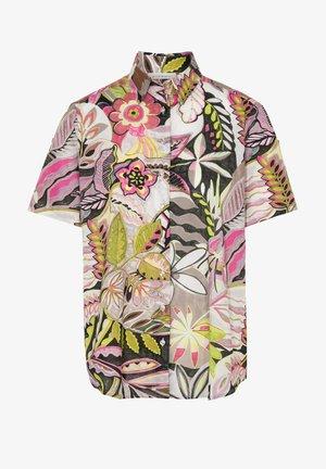 Button-down blouse - grün/pink