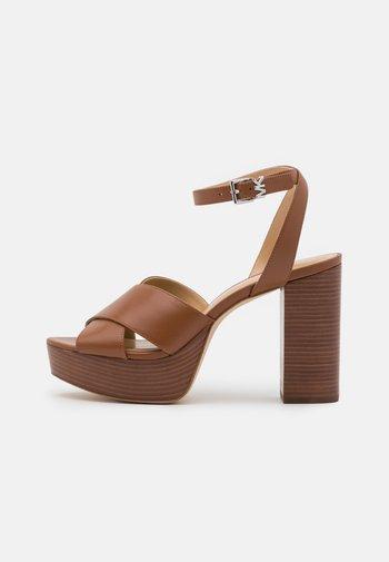 ODETTE PLATFORM - High heeled sandals - luggage