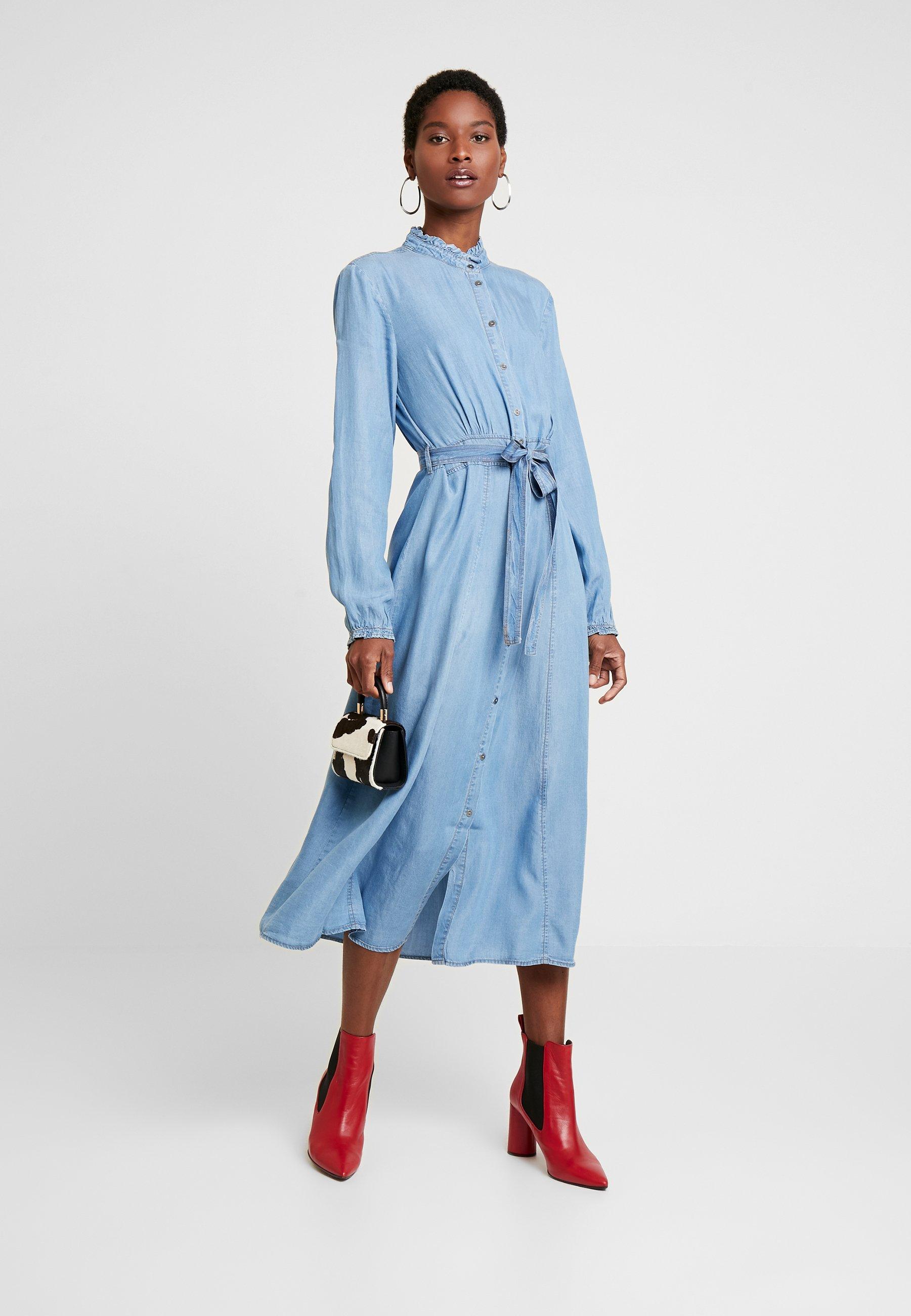 VINCACR DRESS Dongerikjole blue denim