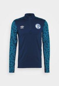 FC SCHALKE 04 HALF ZIP - Club wear - navy/blue sapphire