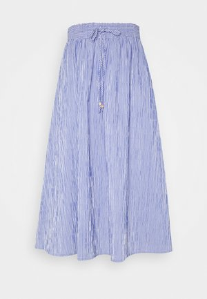 MIDI SKIRT STRIPED - Áčková sukně - deep indigo