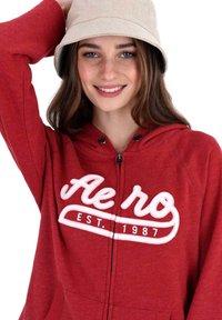 AÉROPOSTALE - Zip-up hoodie - red - 3