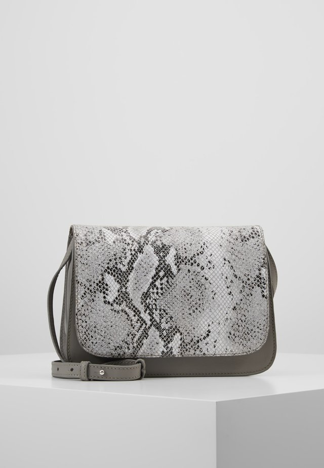 LEATHER - Sac bandoulière - light grey