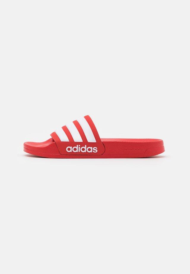 ADILETTE UNISEX - Pool slides - scarlet/footwear white