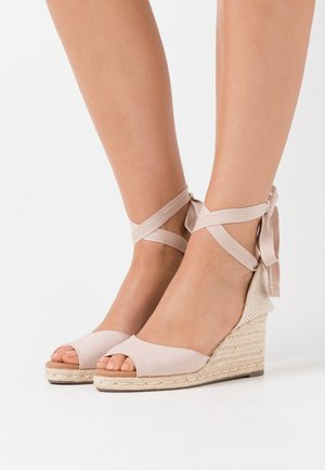 PALM TIE UP - Platform sandals - oatmeal
