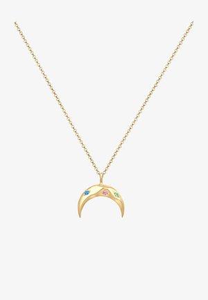 SICHEL MOND BUNT SWAROVSKI® KRISTALLE  - Necklace - gold-coloured