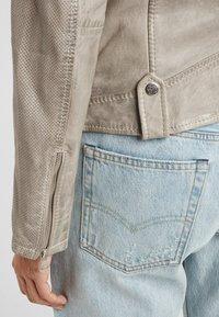 Gipsy - Leather jacket - grau grey - 4
