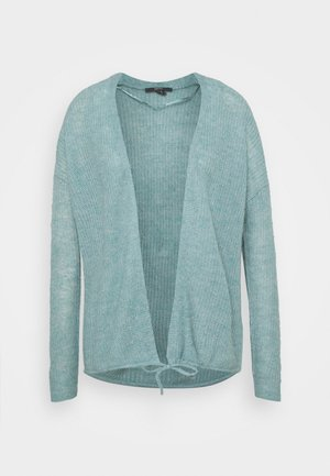 TIE CARDI - Cardigan - dark turquoise