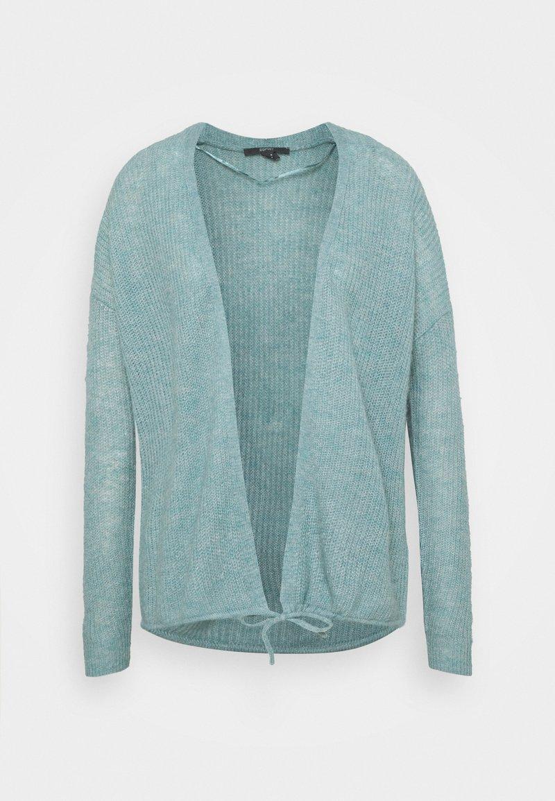 Esprit Collection - TIE CARDI - Kardigan - dark turquoise
