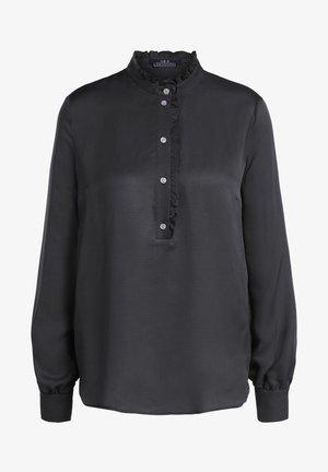 FEMININE - Button-down blouse - black