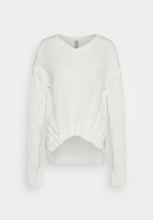 CROP TIE - Sweter - off-white