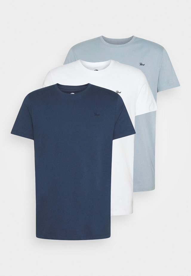 SPECIAL 3 PACK - T-shirt basic - parrot/white/petrol blue