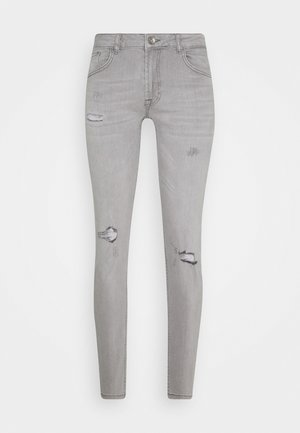 STOCKHOLM DESTROY - Jeans Skinny Fit - bleach grey