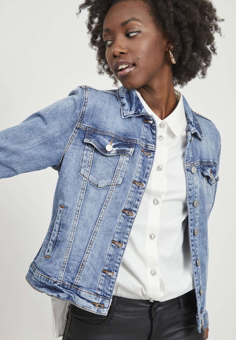 Vila - VISHOW - Jeansjakke - medium blue denim