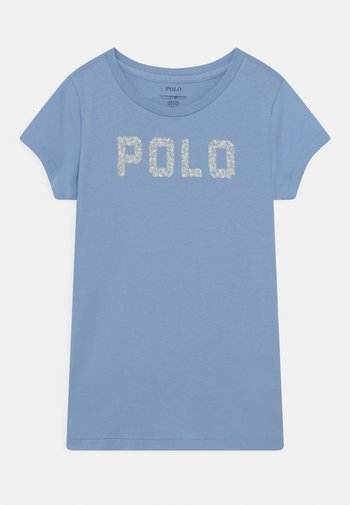Print T-shirt - chambray blue