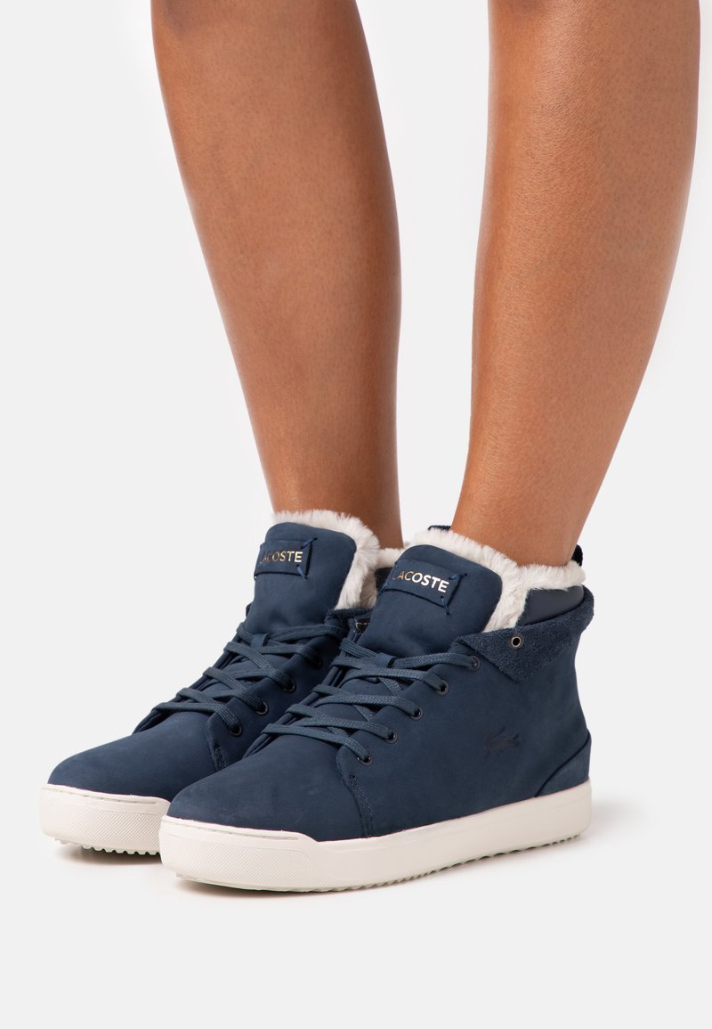 Lacoste - EXPLORATEUR THERMO - Baskets montantes - navy/offwhite