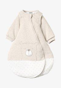 Jacky Baby - MIT ABNEHMBAREN ÄRMELN HELLO WORLD - Baby's sleeping bag - beige melange - 5