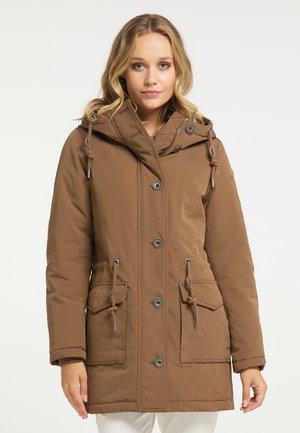 Winter coat - dunkelbeige