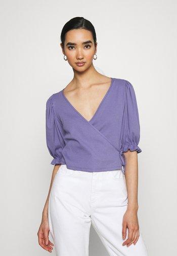Print T-shirt - lilac purple medium dusty