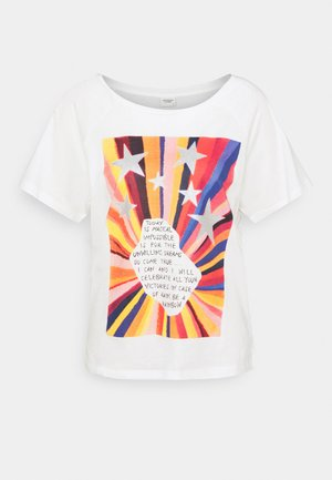 JDYLACEY LIFE - Print T-shirt - cloud dancer