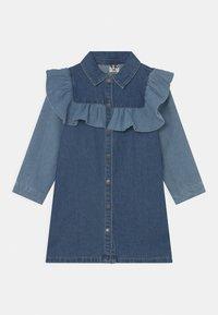Cotton On - LUCILLE LONG SLEEVE FRILL DRESS - Denim dress - midnight - 0