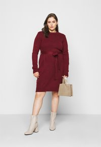 Anna Field Curvy - Jumper dress - dark red - 1
