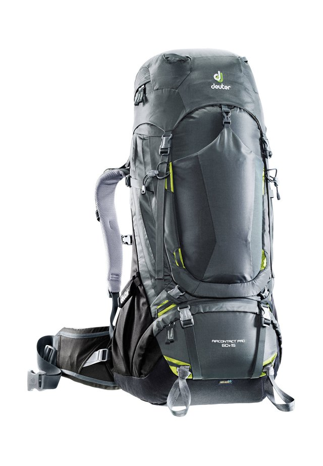 "DEUTER TREKKINGRUCKSACK ""AIRCONTRACT PRO 60 + 15"" - Hiking rucksack - grau (231)"