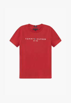 ESSENTIAL LOGO UNISEX - Camiseta estampada - red