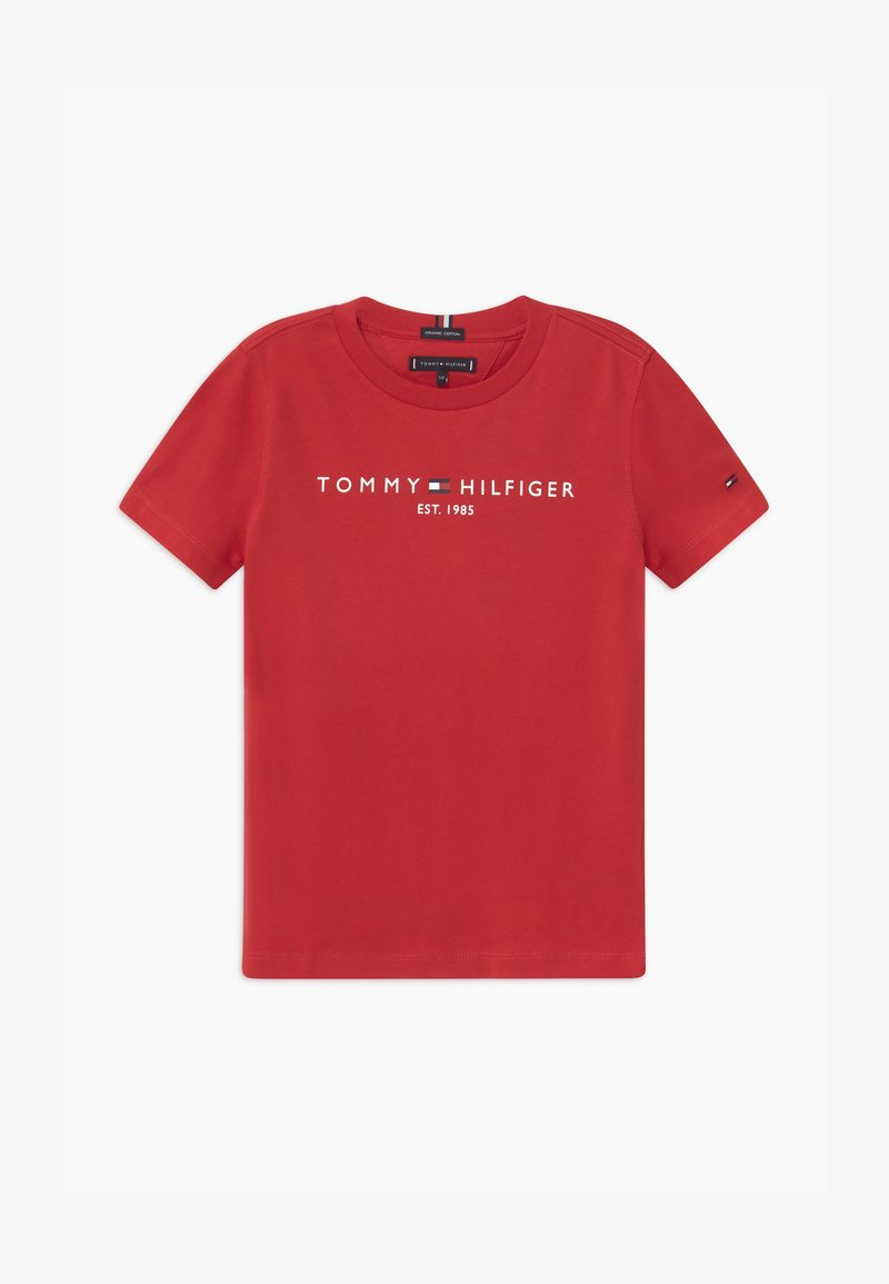 Tommy Hilfiger - ESSENTIAL LOGO UNISEX - T-shirt print - red