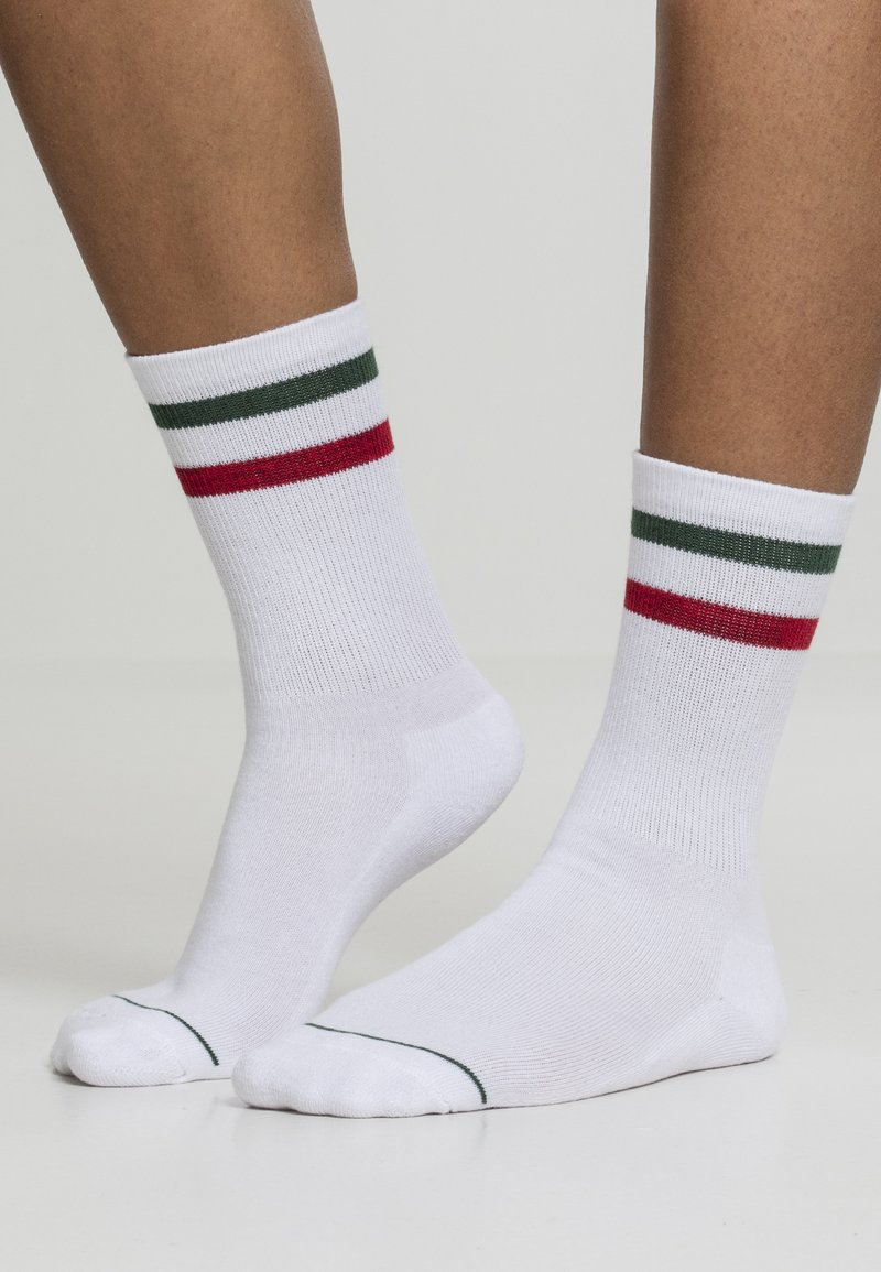 Urban Classics - 2 PACK - Socks - white green red