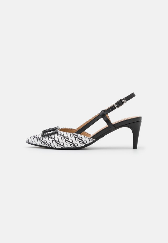 KATIA SLING BACK  - Escarpins - black/white