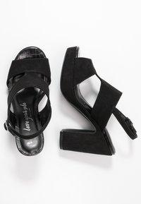 New Look Wide Fit - WIDE FIT ZARTY  - Sandály na vysokém podpatku - black - 3