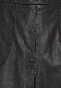 DEPECHE - SKIRT - Leather skirt - black - 2