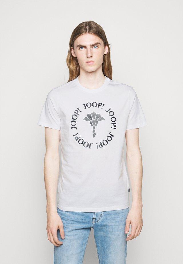 ABRAMO - T-shirt print - white/dark blue