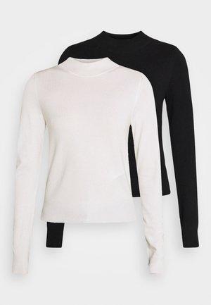 2 PACK - Jumper - black/off-white