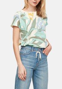 s.Oliver - Print T-shirt - mint - 0