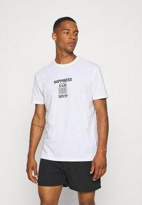 YOURTURN - UNISEX LOOSE FIT - T-shirt imprimé - white - 0