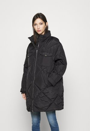 DIAMOND QUILTED COAT - Vinterkåpe / -frakk - black