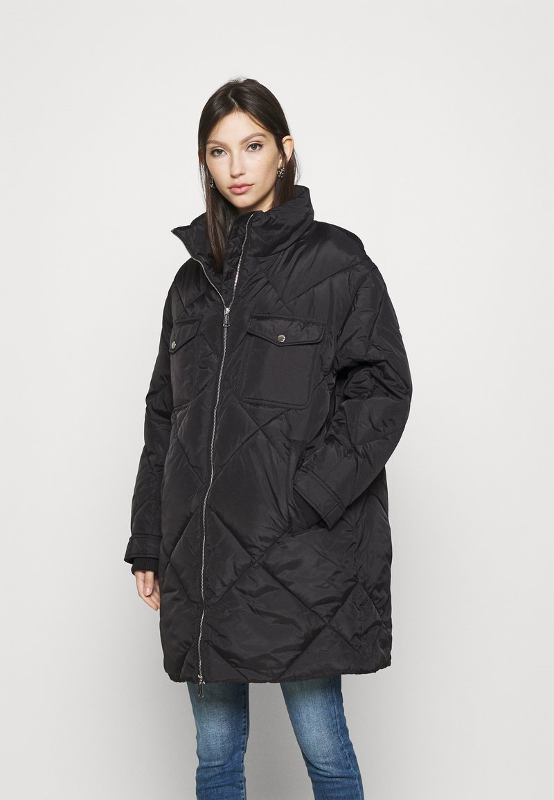 Tommy Jeans - DIAMOND QUILTED COAT - Winterjas - black