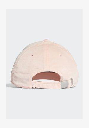 VELVET BASEBALL CAP - Cap - pink
