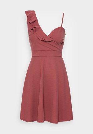 JOLENE A-LINE SKATER DRESS - Jerseyjurk - dark blush pink