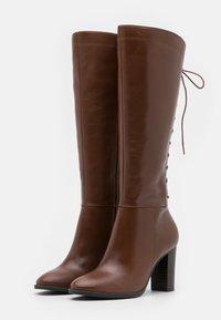 San Marina - EGO - Šněrovací vysoké boty - cognac - 2
