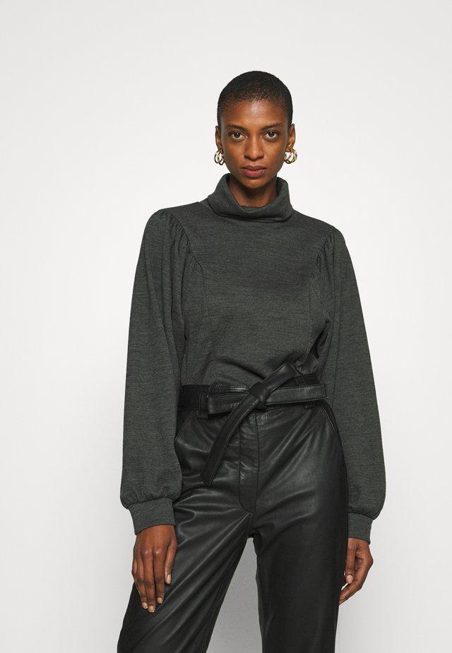 LOPAGZ ROLLNECK  - Stickad tröja - dark grey melange