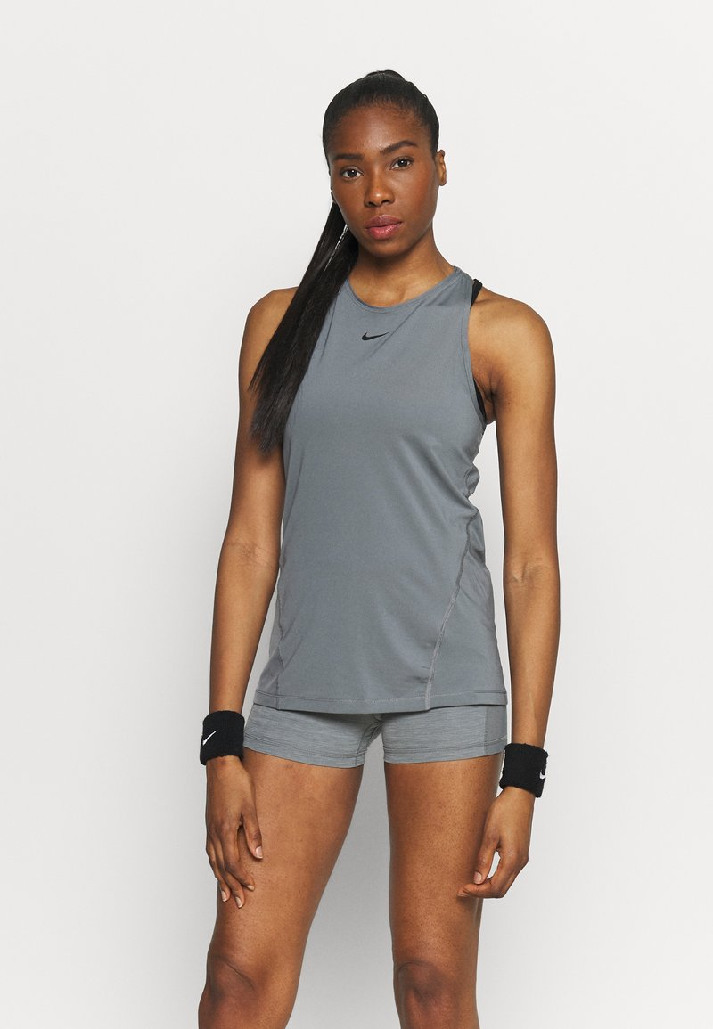Nike Performance - TANK ALL OVER  - Camiseta de deporte - smoke grey/black