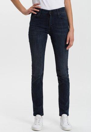 ANYA - Slim fit jeans - blue-black denim