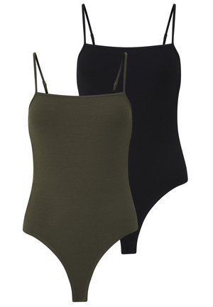 2 PACK - Top - black/khaki