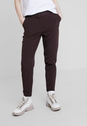 BYDANTA BELT PANTS - Trousers - chocolate brown